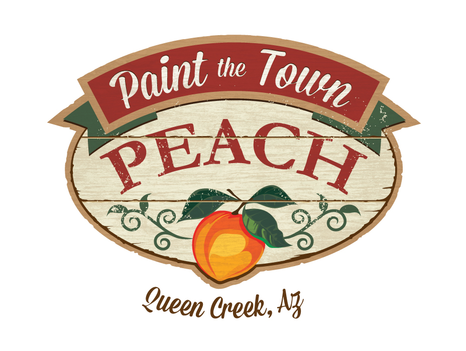 logo paint the town peach